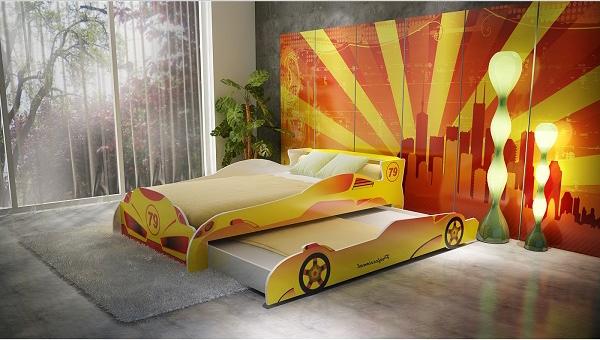 giường tầng cho bé trai - giường ô tô