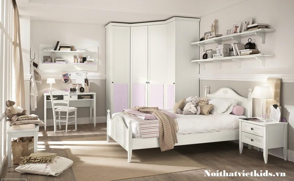 Noi that phong ngu cho be mau hong trang 1024x629 - 20 thiết kế phòng ngủ hiện đại nhất cho trẻ em