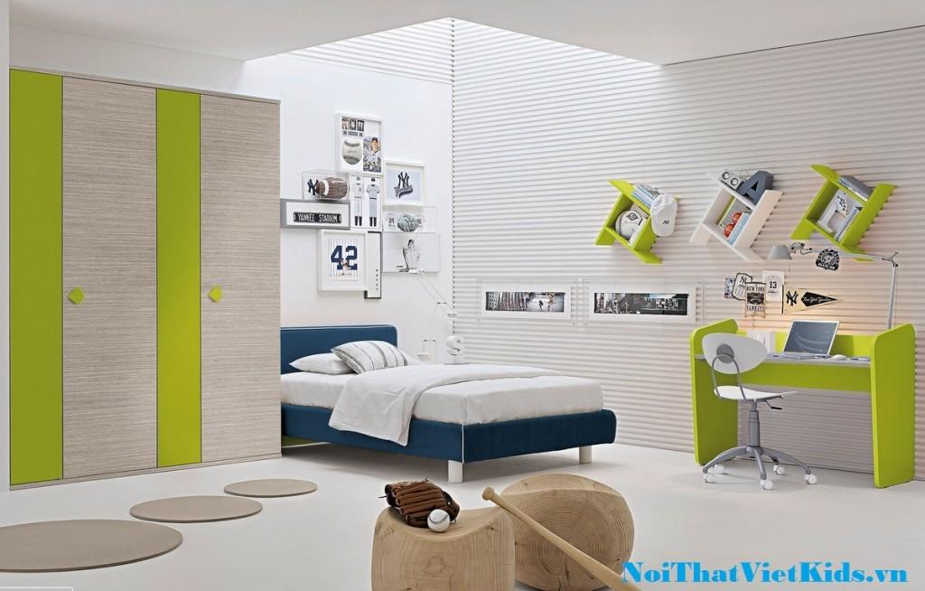 Phong ngu cho be da sac mau cuc dep 1024x654 - 20 thiết kế phòng ngủ hiện đại nhất cho trẻ em
