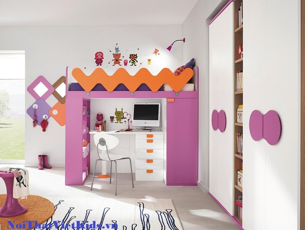 Phong ngu cho be gai cuc yeu - 20 thiết kế phòng ngủ hiện đại nhất cho trẻ em