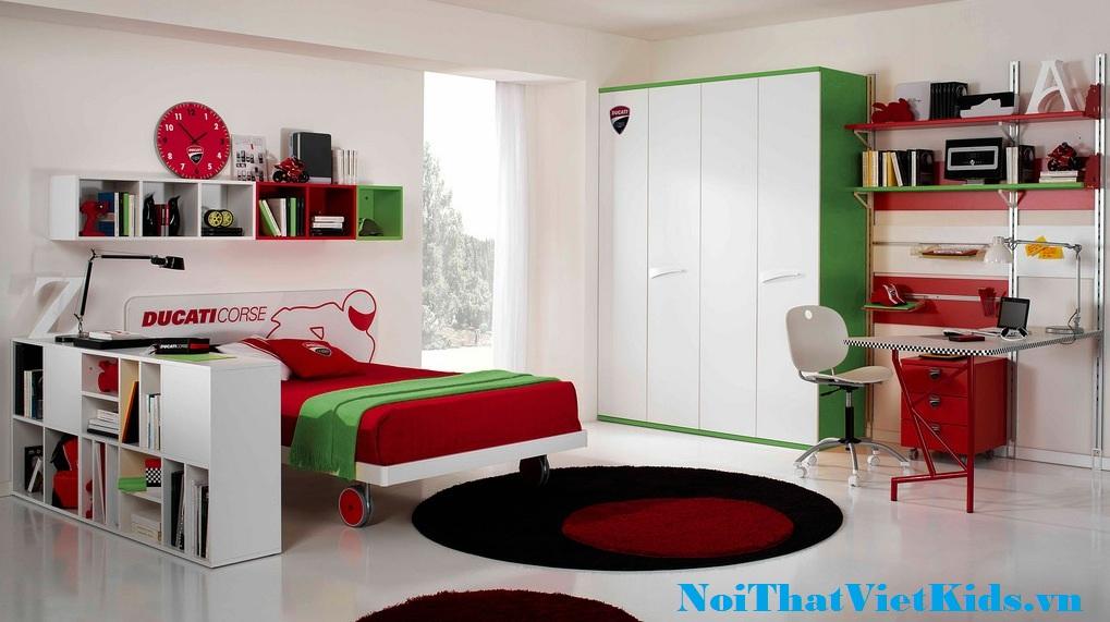 Phong ngu cho be thich motor cuc chat - 20 thiết kế phòng ngủ hiện đại nhất cho trẻ em