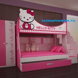 Phòng-ngủ-hello-kitty-cho-bé-gái