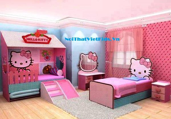 phòng-ngủ-Hello-kitty-cho-bé