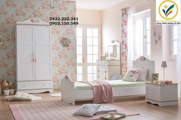 Phòng ngủ bé gái tân cổ điển