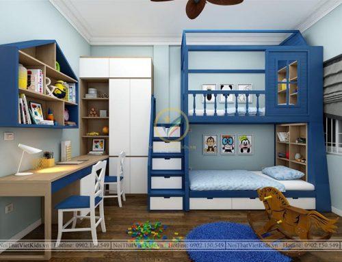 Thiết kế phòng ngủ hai bé trai độc đáo