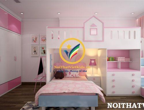 Thiết kế phòng ngủ bé gái cực yêu