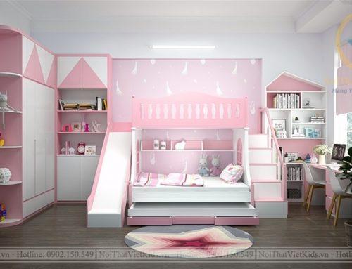 """""""Gác hồng nhỏ"""" – Thiết kế phòng ngủ bé gái siêu đáng yêu"""