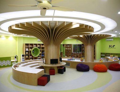 Mẫu thiết kế trường mầm non không gian sáng tạo