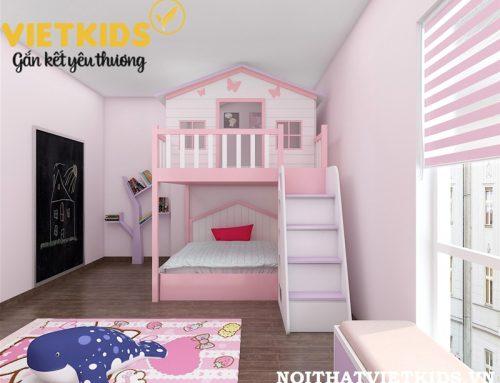 Thiết kế phòng ngủ hình nhà đáng yêu cho con